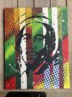 original abstract painting on canvas Bob Marley