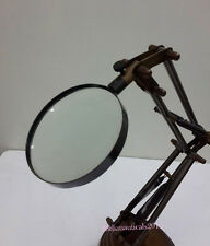 Adjustable Desk top Maginifir Antique Brass Magnifying Glass