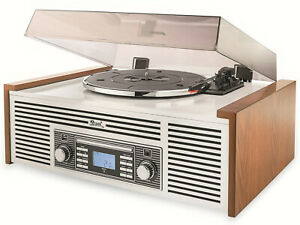 Dual NR 7 Nostalgie Anlage Plattenspieler / CD / USB / Bluetooth / Direkt-Kopie