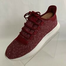 Adidas Tubular Shadow BY3571 Mens Burgundy Running Lace Up Shoes Size 9.5
