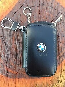 BMW AUTO CAR  KEY CHAIN REMOTE HOLDER CASE BAG WITH CLIP WALLET POUCH RR33#