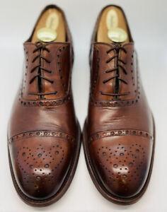 Magnanni Men's Dress Shoes 11.5 Brown Cap Toe Lace Up Oxford executive shoes