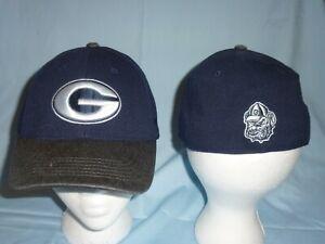 GEORGIA BULLDOGS Post Stretch navy/gray CAP/HAT T.O.W size Medium/Large NWT $28
