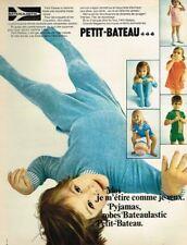 K- Publicité Advertising 1969 Pyjamas pour enfants Petit Bateau