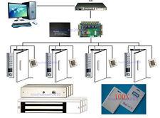 H10301 Card 4 Door Access Control System Waterproof Metal Keypad Reader EM Lock
