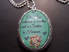 THE LOVE BETWEEN A BROTHER AND A SISTER LOCKET-HIGH QUALITY
