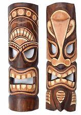2 Tiki Masken 50cm Holzmasken Masken Wandmasken Wandmaske Hawaii Südsee Tribal
