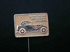 RARRE - OLD VINTAGE- PIN - BADGE - SAMOCHODEM PO DROGACH car club - Poland !