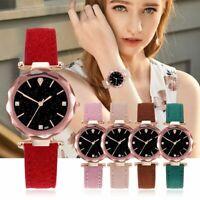 Women Leather Casual Watch Luxury Analog Quartz Starry Wristwatch  Accessories