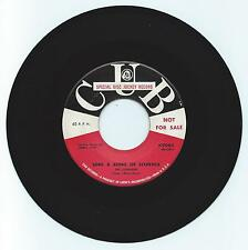 DOO WOP 45 THE CORVAIRS SING A SONG OF SIXPENCE ON CUB  VG+ ORIGINAL PROMO