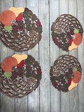 """Home Wear Harvest Time 16"""" Round Placemat"""