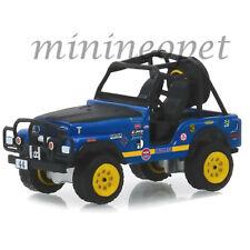 GREENLIGHT 35130 B ALL TERRAIN 1971 JEEP CJ-5 #44 BAJA CRAGAR 1/64 BLUE
