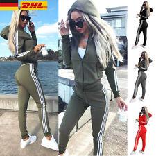 Damen Trainingsanzug Hausanzug Hoodie Sweatshirt Hose Jogginganzug Sport Fitness