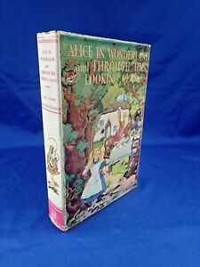 CIRCA 1940'S ALICE IN WONDERLAND AND THROUGH THE LOOKING GLASS BLACKIE RED H/B