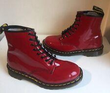 New! Sz8 Vtg England Dr. Martens 1460 Air Cushion Cherry Red Patent Boots Eu42