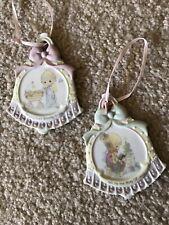 Precious Moments 2 Bell Shaped Porcelain Ornaments