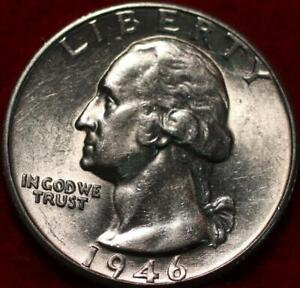 Uncirculated 1946-D Denver Mint Silver Washington Quarter