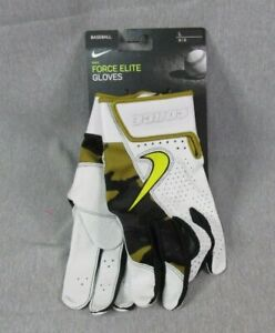 Nike Force Elite FORCE Baseball Batting Gloves CU2400 Men Sz LARGE NEW