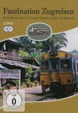2 DVDs * FASZINATION ZUGREISEN - Tansania - Namibia - Indien  # NEU OVP ~