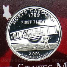 2001-S North Carolina State Quarter - Gem Proof Deep Cameo (90% Silver)