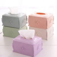 NEW Vintage Rose Carving Style Tissue Box Paper Case Storage Holder Home Decor