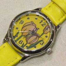 Avon Tulip Watch Quartz Yellow Retired