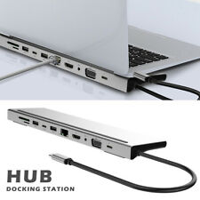 11in1 Type-C to Usb-C Usb3.0 Hdmi Vga Pd Hub Adapter Docking Station For MacBook