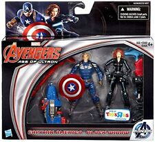 Marvel Comics Ultron Avengers CAPTAIN AMERICA & B WIDOW  Movie 3.75 toy figures