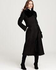 $3K ANDREW MARC RICHARD X CHAI SABRINA SHEARLING FUR HOODED COAT BLACK S/M (R)