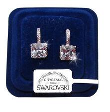 Orecchini da donna pl oro bianco 18K zirconi cristalli swarovski veri SW2 punto