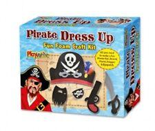 PIRATE DRESS UP CRAFT KIT - 385/224 FOAM CRAFTY HAT BEARD PISTOL DAGGER EYEPATCH