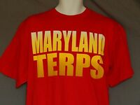 NEW University of Maryland Terrapins T-Shirt Short Sleeve Top Red Men's Size M L