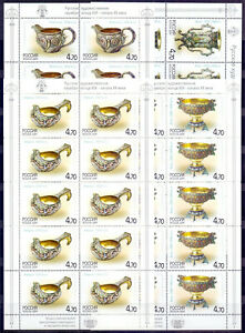 Russia 2004 Silver Art. Full sheets (10 sets). MNH