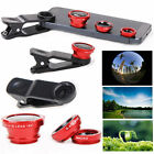 3in 1 Clip On Camera Lens 180° Fisheye+Wide Angle+Macro For Smart Phone iPhone 6