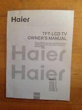 Haier TFT- LCD TV User Manual for Models HL26S HL32S HL26B HL32B HL26BG HL32BG