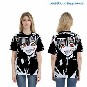 Men Anime Toilet-Bound Hanako-kun Short sleeve Tops Casual T-shirts Cosplay Tees