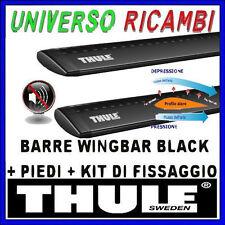 BARRE THULE WINGBAR BLACK KIT VOLVO 740, 5p, SW, 84-92, con barre longitudinali
