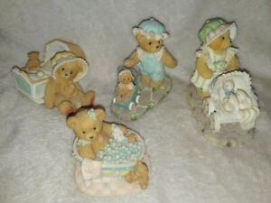 Bundle Of 4 Cherished Teddies Ornaments figurine lot collectors bears set