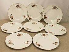 Royal Worcester Eight Dinner Plates - Autumn Gold Design - Thames Hospice