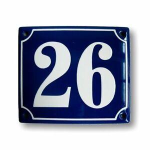 Porcelain address plaque 4.7x5.5″ customisable handmade enamel house number sign