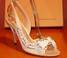 New Alessandro Dell'Acqua Off White Canvas Upper Shoes Size 36.5 US 6.5