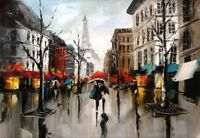 Modern Hand-painted Art Oil Painting Abstract Wall Decor Canvas #A122 No Frame