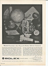 Vintage 1957 Bolex Movie Camera Original Magazine Print Ad