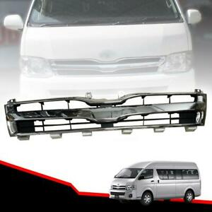 Front Grille Grill Chrome For Toyota Hiace Commuter Van High Roof 2011 12 13