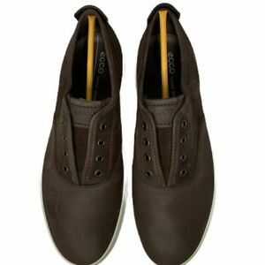 New Ecco Mens Kyle Suede Brown Leather Slip On Sneaker Size 44 EU/10-10.5 US