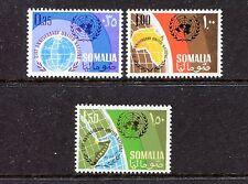 Somalia 292-294 MNH, Globe and UN Emblem 1966. x27904