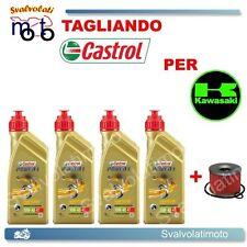 TAGLIANDO FILTRO OLIO + 4LITRI CASTROL POWER1 10W40 KAWASAKI ZR-7 750 2001
