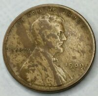 1909 - S - US Lincoln Wheat Cent High Grade Full Wheat Lines Woody (Q285)