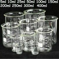 5ml--400ml Chemistry Laboratory Beaker Borosilicate Measuring Glass Beaker