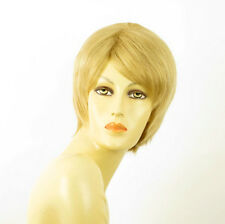 perruque femme 100% cheveux naturel courte blonde ref SOLENE 22